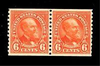 US 1923 Sc# 723 6 c Garfield - Mint NH Crisp Color - Centered