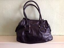 Betty Jackson Large Black Genuine Leather Shoulder Bag