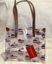 Dooney Bourke Clear IT Medium Shopper Bag Purse Tote Handbag Patriot Duck NWT
