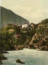 Valais. Alpes valaisannes. Stalden. PZ vintage photochromie, photochromie, vin