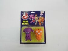 1986 KENNER REAL GHOSTBUSTERS MINI GHOST TRAPS FIGURE SET SEALED NIP