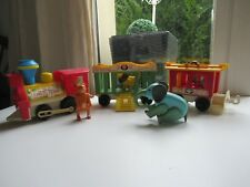 ☺ Jouet Ancien Le Train Cirque Fisher Price Vintage Réf: 991