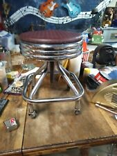 New listing 1955 Antique Drs Stool-Rolls And Adjusts-Awesome 50s Look-Good Shape-Rare