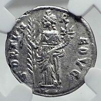SEPTIMIUS SEVERUS Authentic Ancient 194AD EMESA Roman Coin FORTUNA NGC i81427