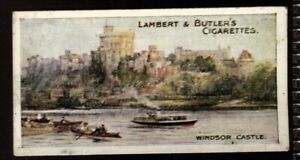 Tobacco Card, Lambert Butler, THAMES LECHLADE TO LONDON, 1907,Windsor Castle,#40