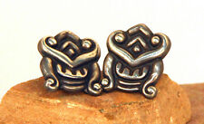 "Taxco Sterling Silver Ballesteros Screwback Earrings 1"" c.1950"