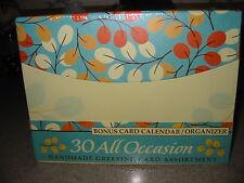 NEW!! Paper Magic Group 30 Handmade Greeting Card Assortment + Bonus Organizer