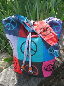 Vibrant Multicolored Patchwork Hippie BoHo Vintage Bohemian Shoulder Bag