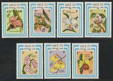 LAOS N°643/649** Fleurs, Orchidées TB, 1985 flowers Orchids set MNH