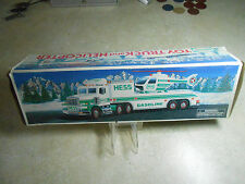 TOUGH! (NOS) VINTAGE (c.1995) HESS TOY TRUCK and HELICOPTER (LIMITED EDITION)