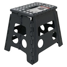 150kg Tall Single Step Plastic Folding Step up Stools Collapsible Foldaway Large