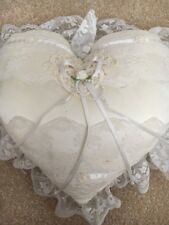 Victorian Scents Vintage Heart With Lace Ring Bearer Pillow