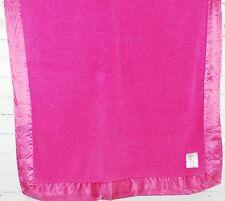 "LITTLE GIRAFFE Plush Fleece Baby Blanket FUCHSIA DARK PINK Satin Edge 27""x32"""