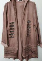 Damen Sweat Jacke mit Pailletten Größe 40-44 passend 5 Farben, Made in Italy NEU