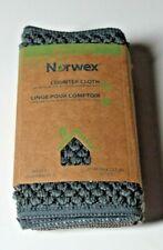 "Norwex Microfiber Counter Cloth Set of 3 Slate Vanilla Mushroom NEW 11"" x 5"""