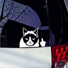 Cool Grumpy Cat For JDM Auto Car/Bumper/Window Vinyl Decal Sticker Decals Funny