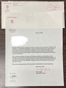 Bob Knight Authentic Autograph (Indiana University, 1996)