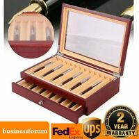 2 Layer Wooden Box Fountain Pen Display Organizer Storage Wood Box 23 slots USA