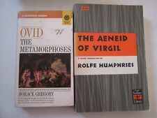 Ovid The Metamorphoses & Virgil The Aeneid Lot Of 2 Paperbacks Roman Mythology