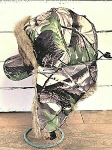 Insulated Camouflage Hunting Cap with Insulated Ear Flaps