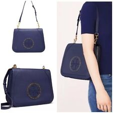NEW TORY BURCH Leather Stud Shoulder Bag Purse Royal Navy RETAIL  525 NWT 261e423d70