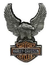 Harley-Davidson 1.5 in. Up-Winged Eagle Bar & Shield Pin, Antique Finish 8008864