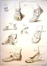 Encyclopédie Méthodique Antiquités Mythologie Chaussures des Grecs Crepides 1786