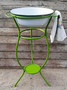 Hungarian Enamel Wash Stand, Farmhouse sink, Farmhouse decor, bathroom vanity