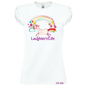 Laughter'n'Life Unicorn T-shirt - gift, present, trend, personalised, rainbow