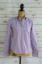 Chaps Classics - Purple white striped 100% Cotton NO IRON Button front shirt, PS