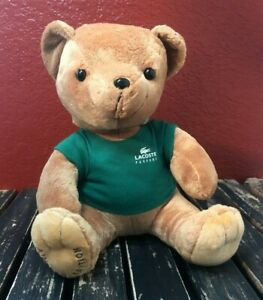 Lacoste Parfums Limited Edition Plush Toy Figure Stuffed Animal Teddy Bear Clean