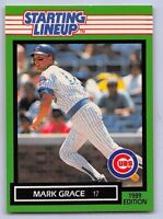 1989  MARK GRACE - Kenner Starting Lineup Card - CHICAGO CUBS