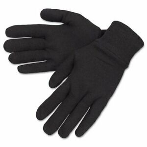 Mcr Safety General Purpose Brown Jersey Gloves - Large Size - Brown - Cotton