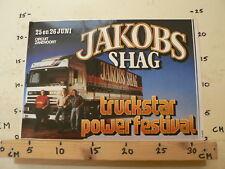 STICKER,DECAL JACOBS TRUCKSTAR POWER FESTIVAL ZANDVOORT DAF 95  BIG SIZE  25-6