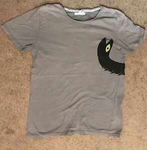 New Cheap Monday Printed Tee Snake Dragon Small Gray Pre Owned