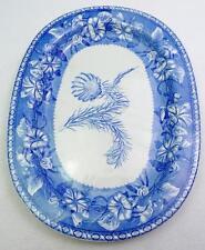 "Antique Wedgwood Morning Glory Pattern Botanical Floral 15.25"" Deep Platter #78"