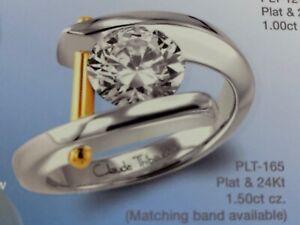 CLASSIC Claude Thibaudeau Platinum/24K 1.5 CT Semi-mount PLT-165 Engagement Ring