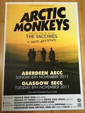 The Arctic Monkeys - Gig poster , Aberdeen & Glasgow - Nov 2011