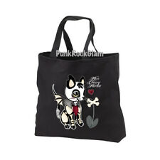 Cute Zombie Kitten Canvas Tote Bag