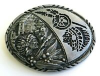 Native American Indian Chief SSI Vintage Belt Buckle