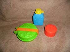 McDonalds Happy Meal Toy Camp McDonaldland Mess Kit Cup Canteen 3 Lot 1989