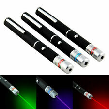 3pcs 405nm 5mw Laser Pointer Pen Red + Green + Purple Visible Beam for Classroom