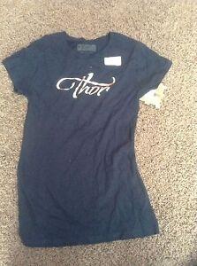 New Thor Womens Luna Navy Chrome Motorcycle MX T Shirt T-Shirt Tee XS S M L XL