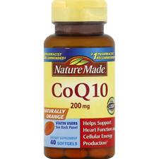 Nature Made CoQ10 200 mg Liquid Softgels 40 ea -EXP 12/20 or Later