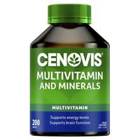 Cenovis Multivitamins and Minerals 200 Tablets Energy Levels Brain Function