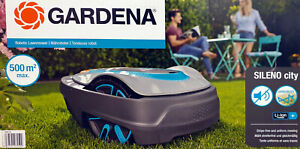 Gardena Mähroboter Sileno City 500, Akku Rasenmäher, robotic lawnmower, 15002-20