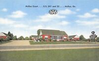 McRae Georgia~McRae Motor Court~Roadside Motel~1940s Linen Postcard