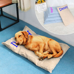 Custom Personalized Dog Mat Puppy Large Dog Sleeping Blanket Kennel Bed Pad S-XL