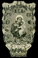 santino-holy card*S.ANTONIO DA PADOVA ,IL GIGLIO BENEDETTO 1934