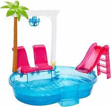 Barbie Glam Pool Doll Pool Playset Summer Swimming Chairs Slide